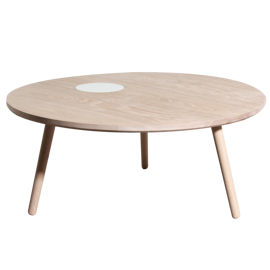 Bord MO1 Coffee Table 40cm Sæbebehandlet